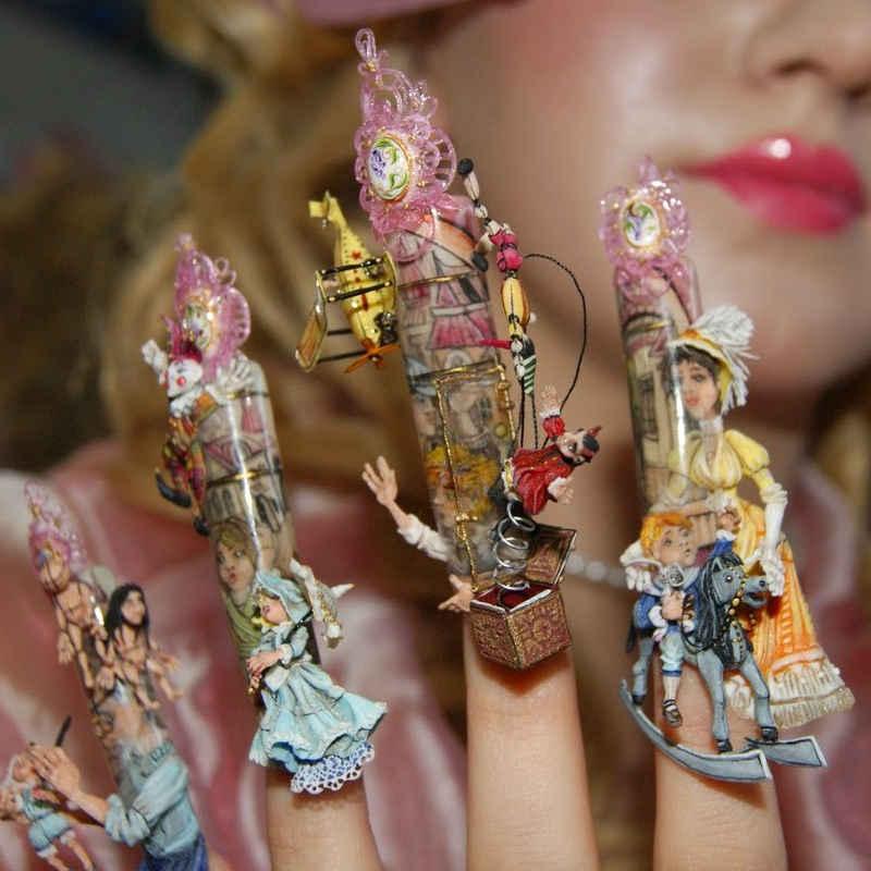 Конкурсные работы дизайна ногтей фото